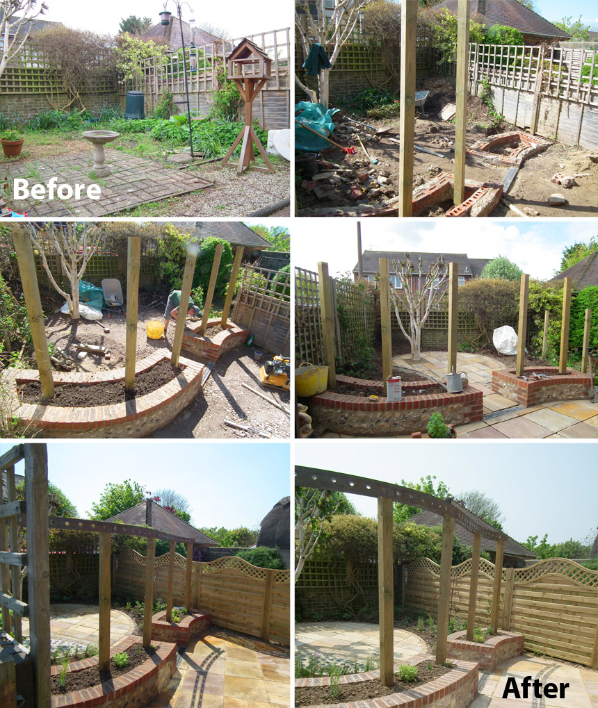 A before and after garden transformation